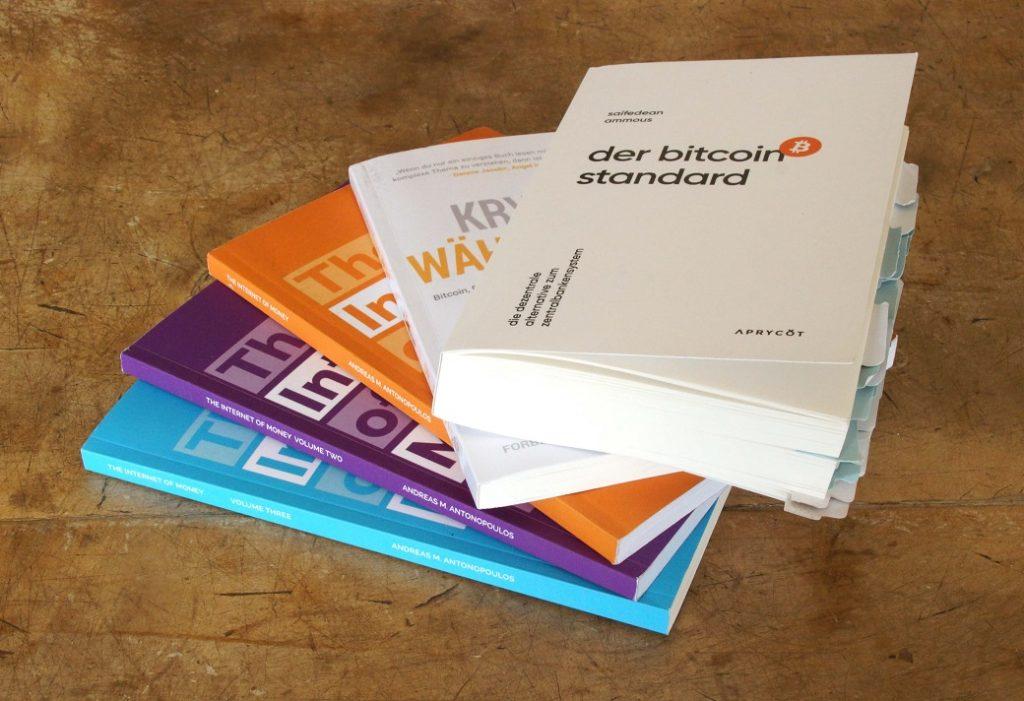 verschiedene Bitcoin-Bücher