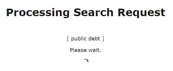 Nachricht während im Statistical Data Warehouse der EZB gesucht wird
