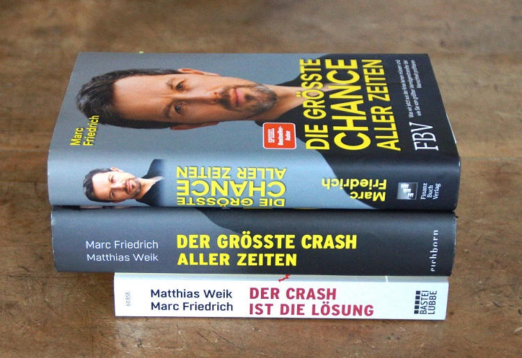 Meine persönliche Sammlung der Bücher von Marc Friedrich